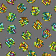 Vector Pattern 80s. Seamless Background. Retro Memphis Style Piirros