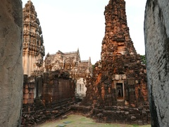 Phimai Historical Park,  travel destination in North East Thailand. Stock Footage