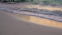 Sunrise Morning Beach Waves Stock Footage
