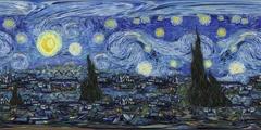 Starry Night - VR 360 Animation - Loop Stock Footage