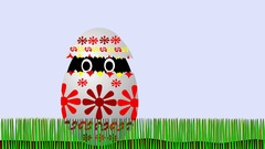 Chicken jumping from Easter egg Stock Footage