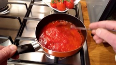 Tomato sauce cooked Stock Footage