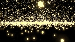 Golden glowing star particle in random direction with bounce Stock Footage
