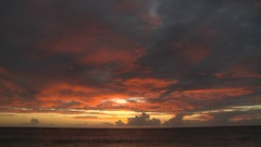 Sunset on a bonaire beach in the caribbean Stock Footage