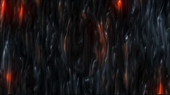 Abstract CGI motion graphics with lava effect Stock Footage