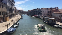 View of Venice canal from a bridge Stock Footage