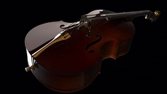 Violin or viola instrument turning. PNG plus Alpha channel Stock Footage