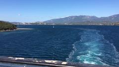 Ship's wake - Mediterranean Sea, Corsica Stock Footage