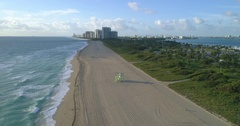 Aerial drone shot of Haulover Beach Florida 4k 60p Stock Footage