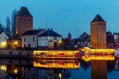 Strasbourg. Quay in the quarter Petite France Stock Photos