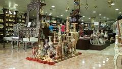 People in souvenir shop, Hashemite Kingdom of Jordan Stock Footage