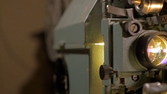 Antique Film Projector working Stock Footage