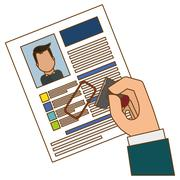 Cv or resume related icons image Stock Illustration