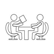Business people team work related icon image Piirros