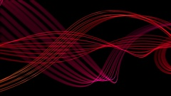 Smooth Elegant Curved Lines Looped Motion Background Stock Footage