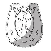 Horse equine icon image Stock Illustration