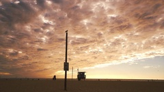 Beach sunrise timelapse with clouds Stock Footage