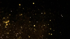 1000 fps Gold dust on black Stock Footage