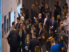 Urban Exhibition. Exhibition People. Many People Stock Footage
