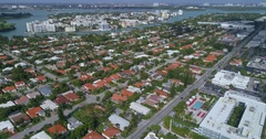 Aerial drone video Surfside Miami Beach Stock Footage