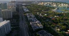 Aerial video of Bal Harbour neighborhoods Stock Footage