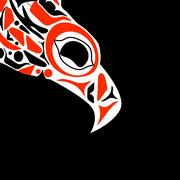 Totem bird indigenous art stylization Stock Illustration