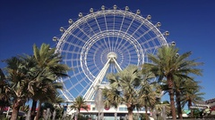 Orlando Eye Observation Wheel in Orlando, Florida Stock Footage