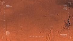 MRO mapping flyover of Arcadia Region, Mars  Stock Footage