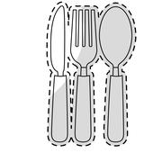 Silverware icon image Stock Illustration