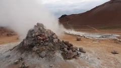 Hot spring in iceland Stock Footage