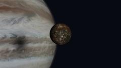 Jupiter and Callisto Stock Footage
