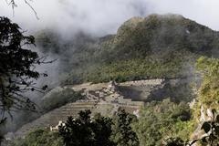 Machu Picchu Inca Ruins Seen From Huayna Picchu Stock Photos