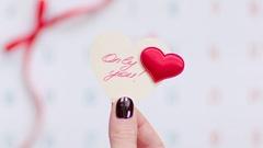 Valentine and calendar Stock Footage