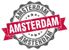 Amsterdam round ribbon seal Piirros