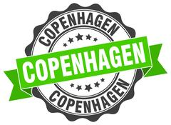 Copenhagen round ribbon seal Stock Illustration