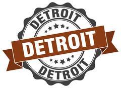 Detroit round ribbon seal Piirros
