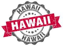 Hawaii round ribbon seal Piirros