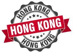 Hong Kong round ribbon seal Piirros