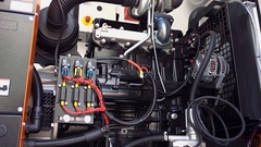 High-power mobile diesel generator on the basis of internal combustion engine Stock Footage