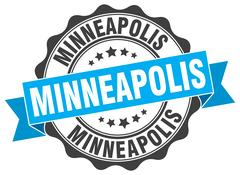 Minneapolis round ribbon seal Piirros