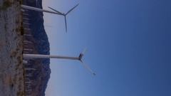 Timelapse of Sunrise at Palm Springs Wind Farm -Vertical- Stock Footage