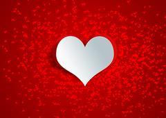 Heart shape on paper craft Stock Illustration