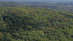 AERIAL: Luxury real estates with wilderness parcels in remote mountainous land Stock Footage