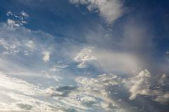 Partly Cloudy. Weather forecast. Stock Photos
