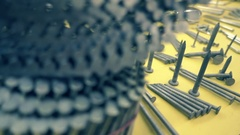 The nails of different shapes and sizes for any purpose, on the shop window Stock Footage