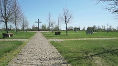 The German military memorial cemetery in Russia Stock Footage