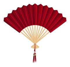 Chinese fan vector on a white background Stock Illustration
