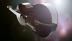 Violin or viola instrument turning Stock Footage