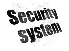 Safety concept: Security System on Digital background Piirros