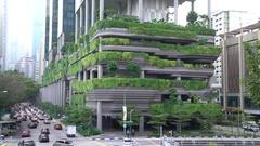Singapore. Park Royal Hotel. Stock Footage